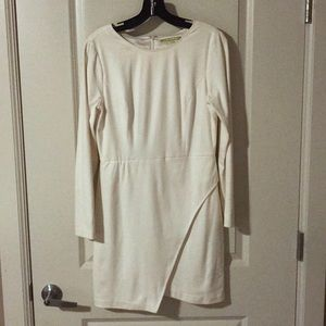Women's off white Gianni Bini faux suede dress.